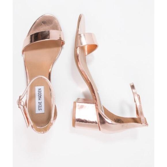 4c7f6fe692b Steve Madden Irenee rose gold sandals. M 5b410d8f3e0caa5656fbc058